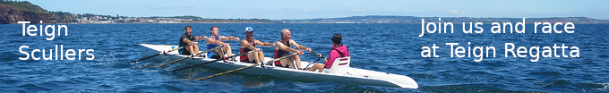 [Teign Scullers Rowing Club - Single sculler in the bay]